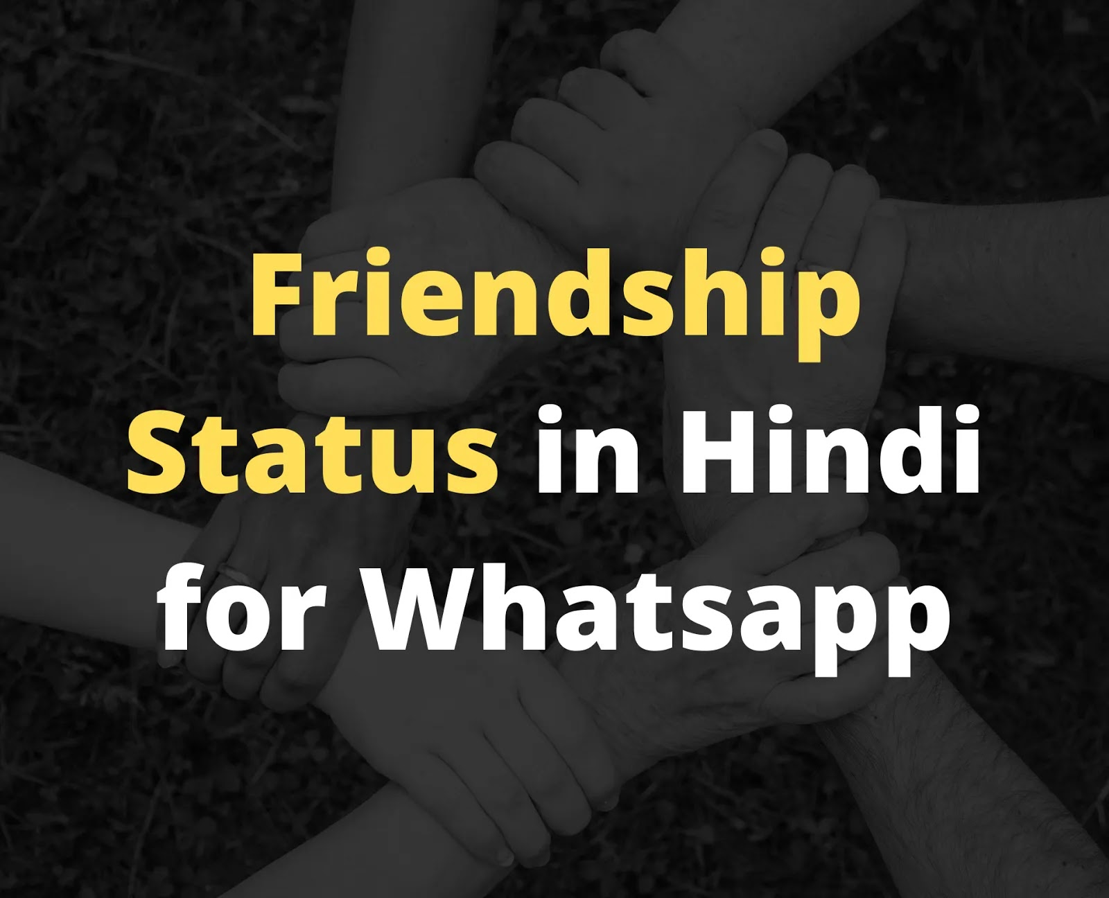 Best Friendship Status in Hindi
